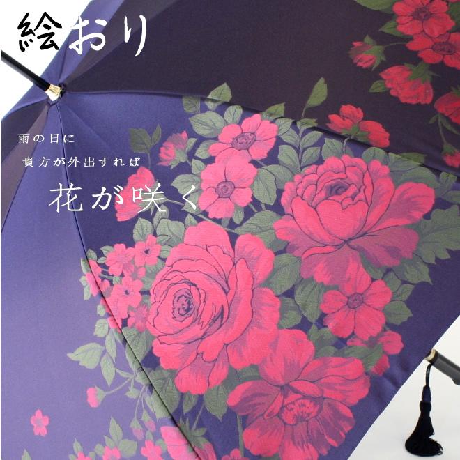 槙田商店の「傘」絵おり(えおり)